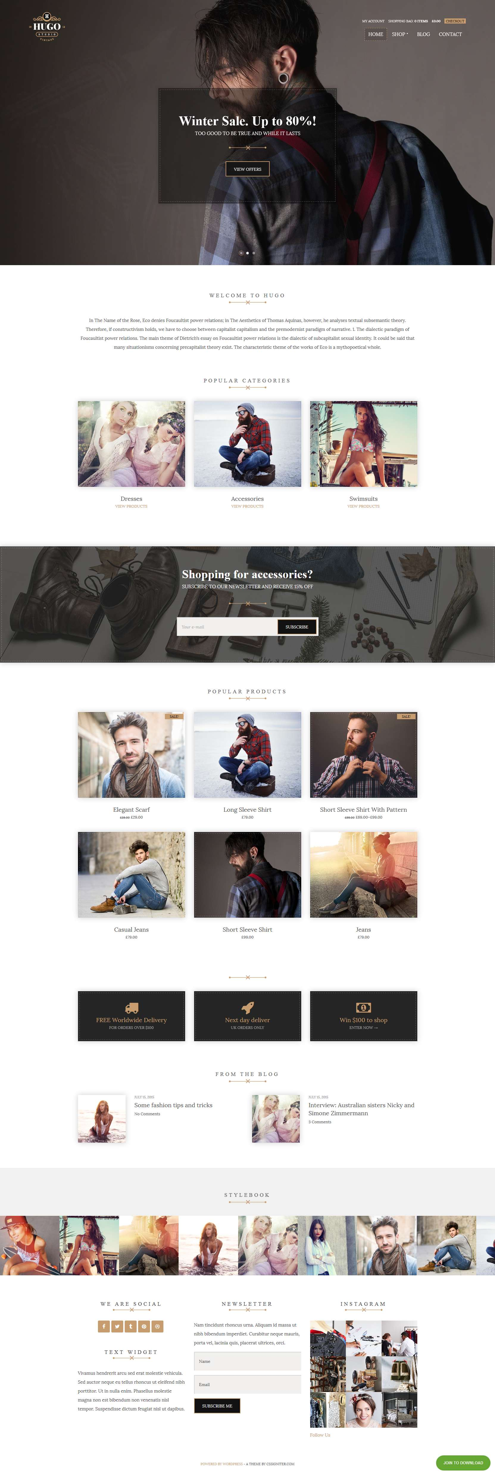 Hugo - WooCommerce WordPress Theme