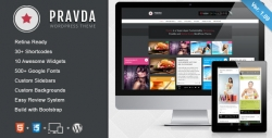 Pravda - Retina Responsive WordPress Blog Theme - Photography|Pinterest|Review