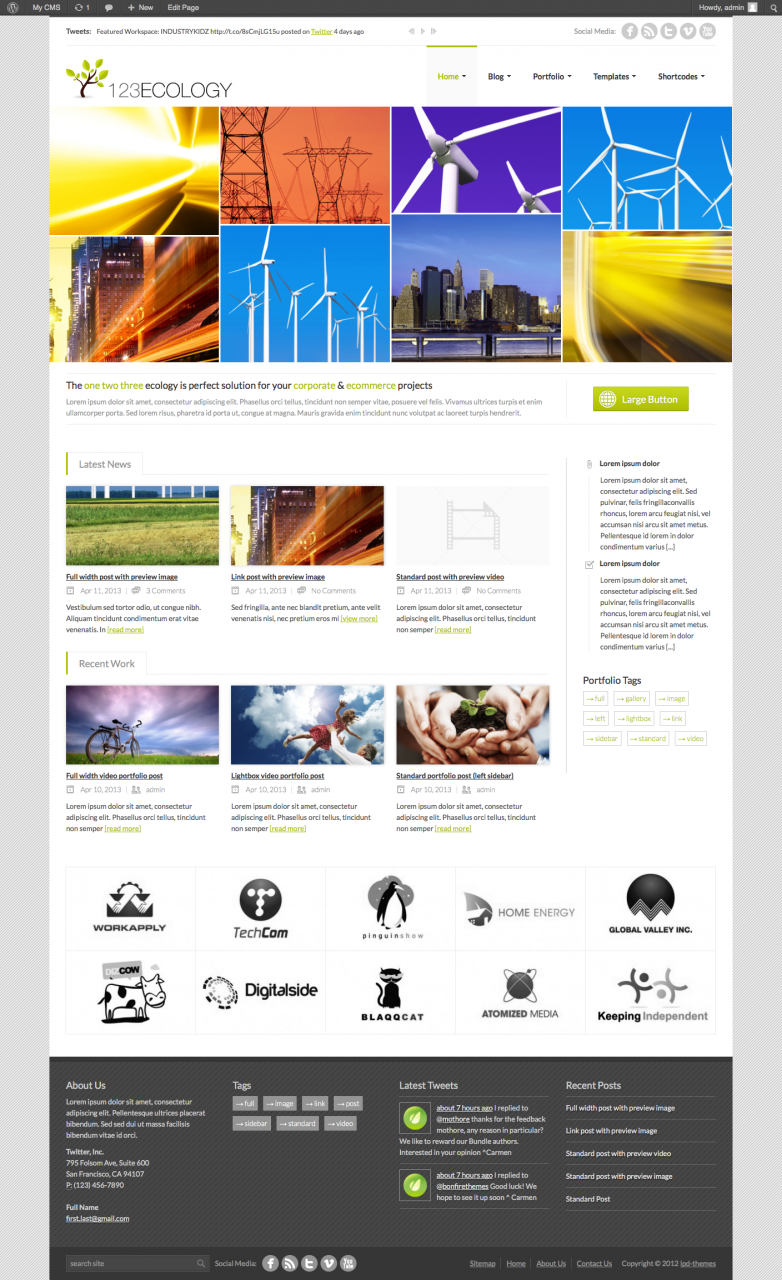 Wordpress Theme For Printing Business 9th