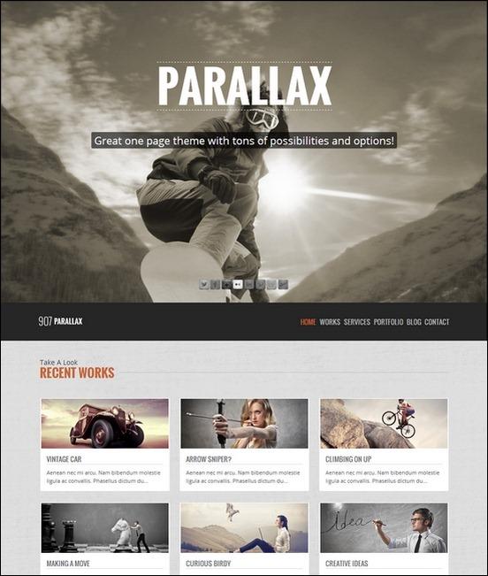 907 - Responsive WP One Page Parallax - Premium wordpress themes