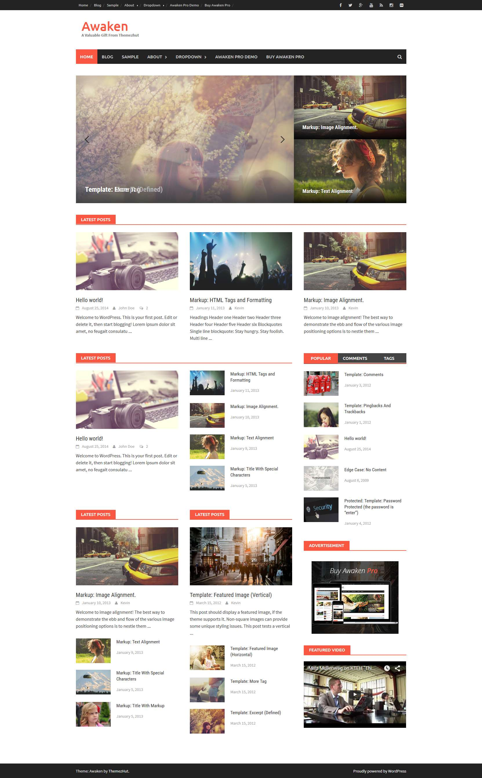 Awaken - Free WordPress Theme