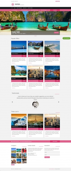 Cousteau - Travel WordPress Theme