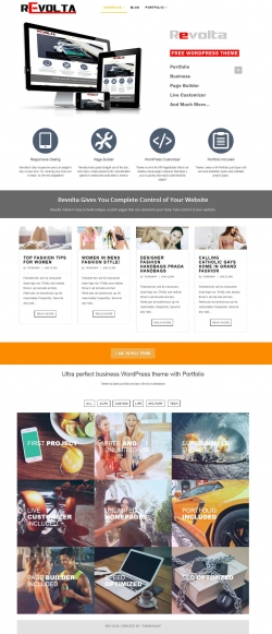Revolta - Free Business Portfolio WordPress Theme