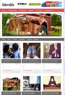 Adorable WordPress Theme - Magazine|Tumblr-Style