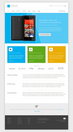 Aeolus - Corporate Minimalist Wordpress Theme - Metro-style