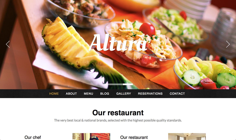 - Premium wordpress themes|Restaurant