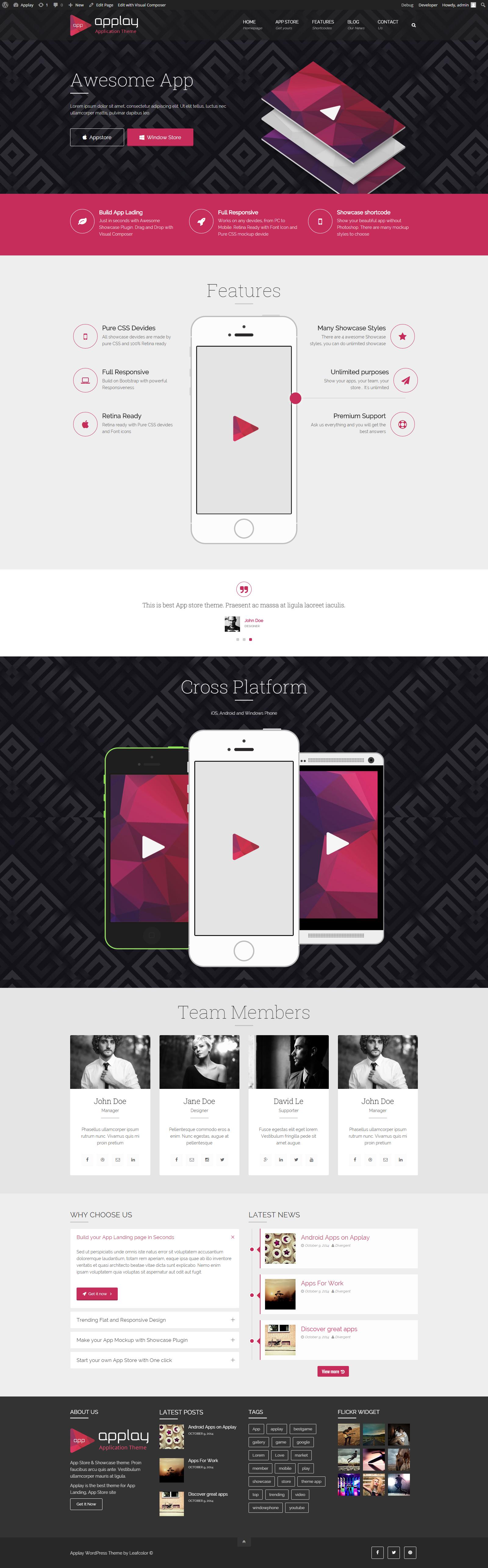 - App Premium wordpress themes