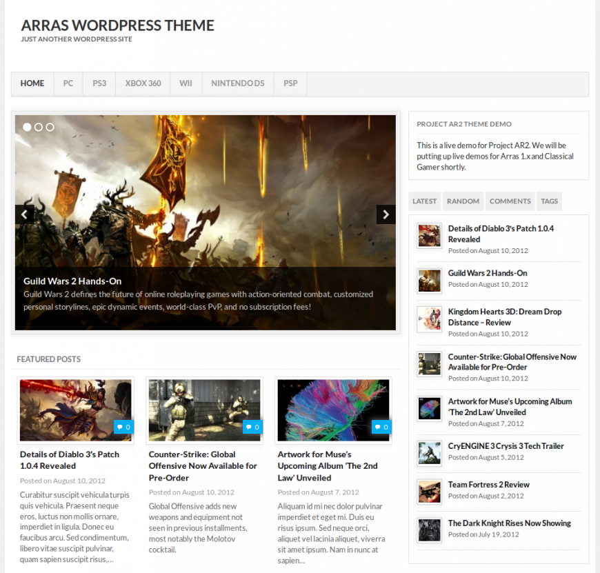 Arras 2.0 WordPress Theme - Blog|Free wordpress themes|Magazine