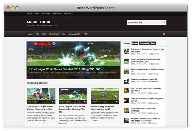 Arras free wordpress theme - Blog|Free wordpress themes|Magazine