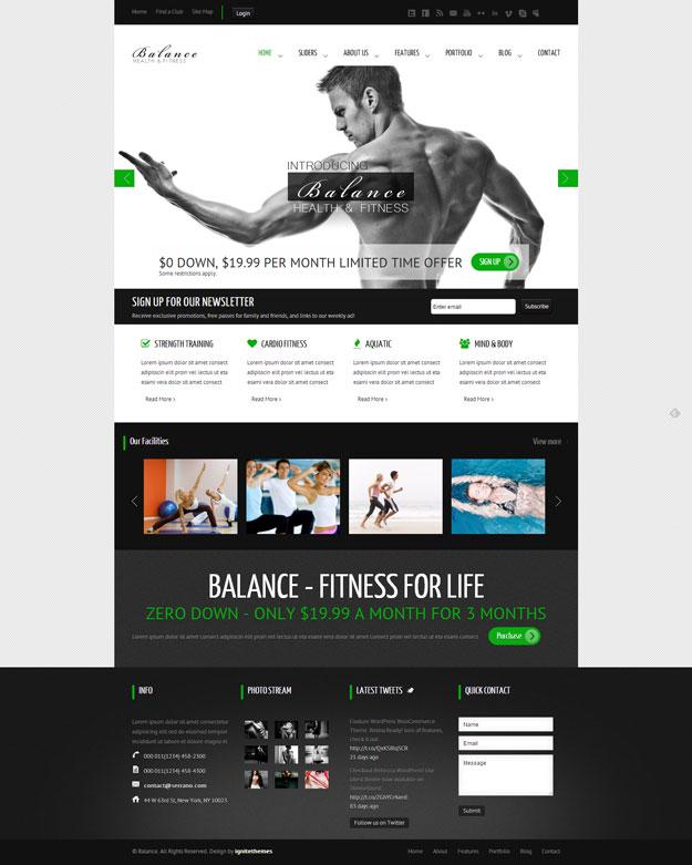 Balance - Gym Fitness WordPress HTML 5 Theme - Fitness|Premium wordpress themes