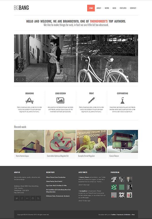 Bigbang - Responsive WordPress Template - Portfolio