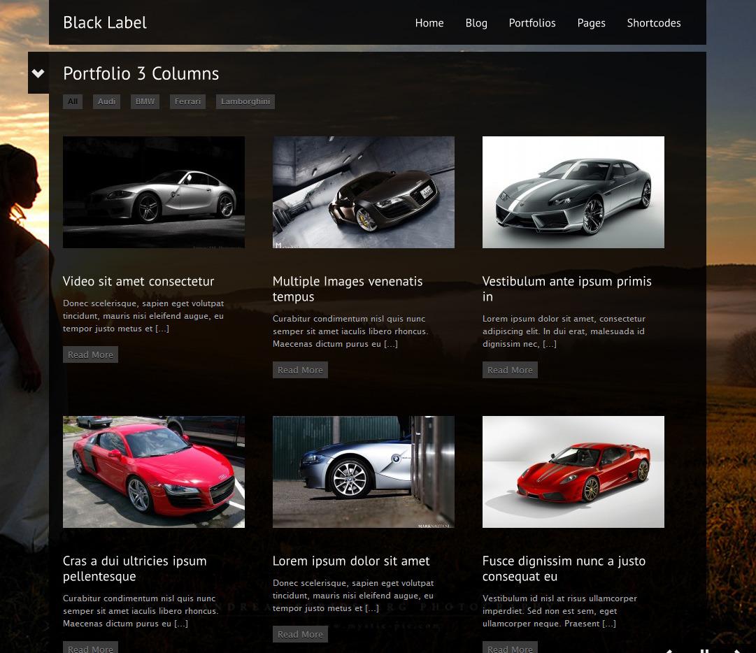 Black Label - Fullscreen Video & Image Background - Photography