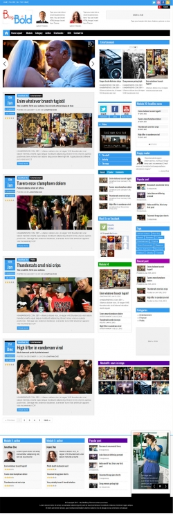 Blogbold - Responsive Metro Blogmagnews Theme - Magazine|Metro-style|Review