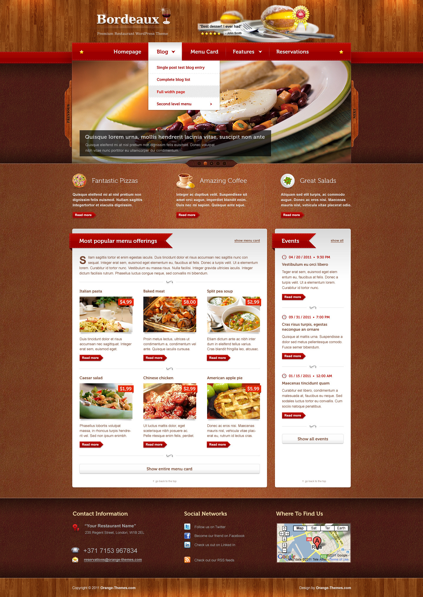 Bordeaux - Premium Restaurant Theme - Premium wordpress themes|Restaurant