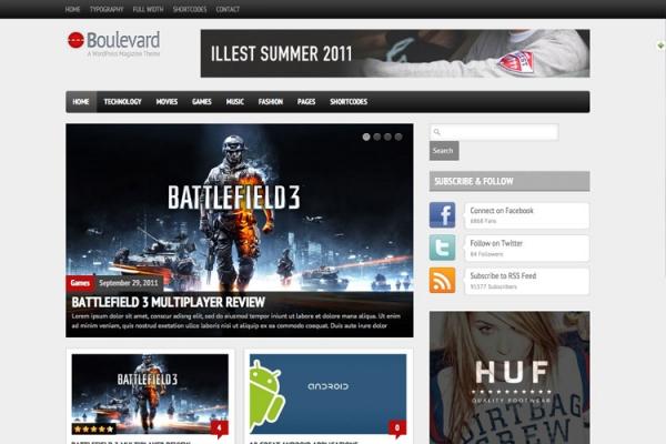 Boulevard - A WordPress Magazine Theme - Magazine|Review