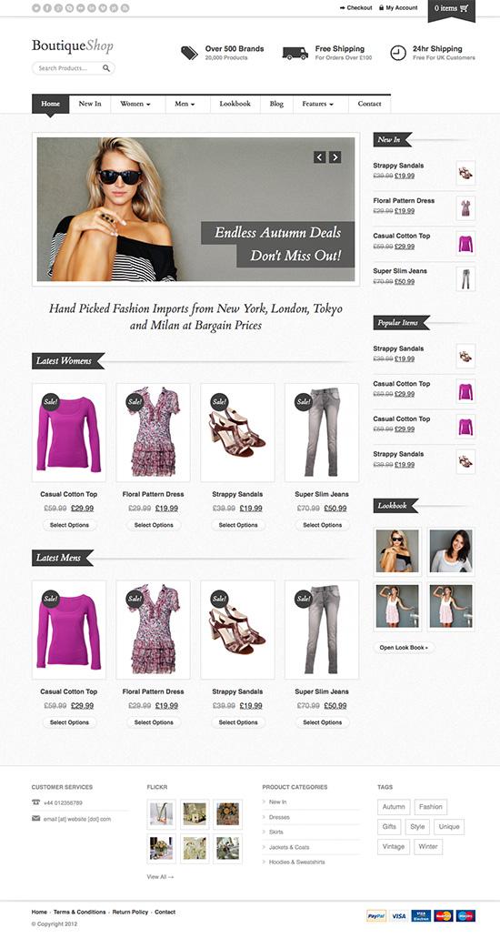 Boutique Shop - Responsive WooCommerce Theme - Ecommerce>WooCommerce