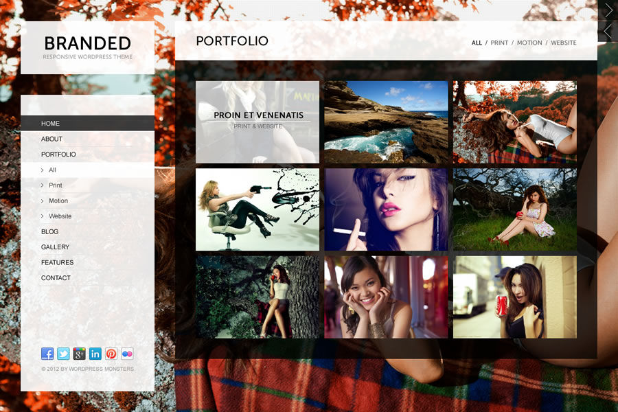 Branded Responsive WordPress Theme - Gallery|Photography