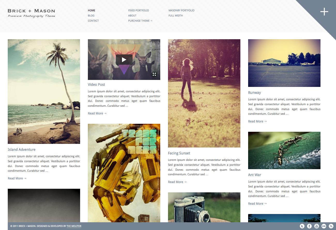 Brick + Mason: Premium Photography and Blog Theme - Photography Pinterest