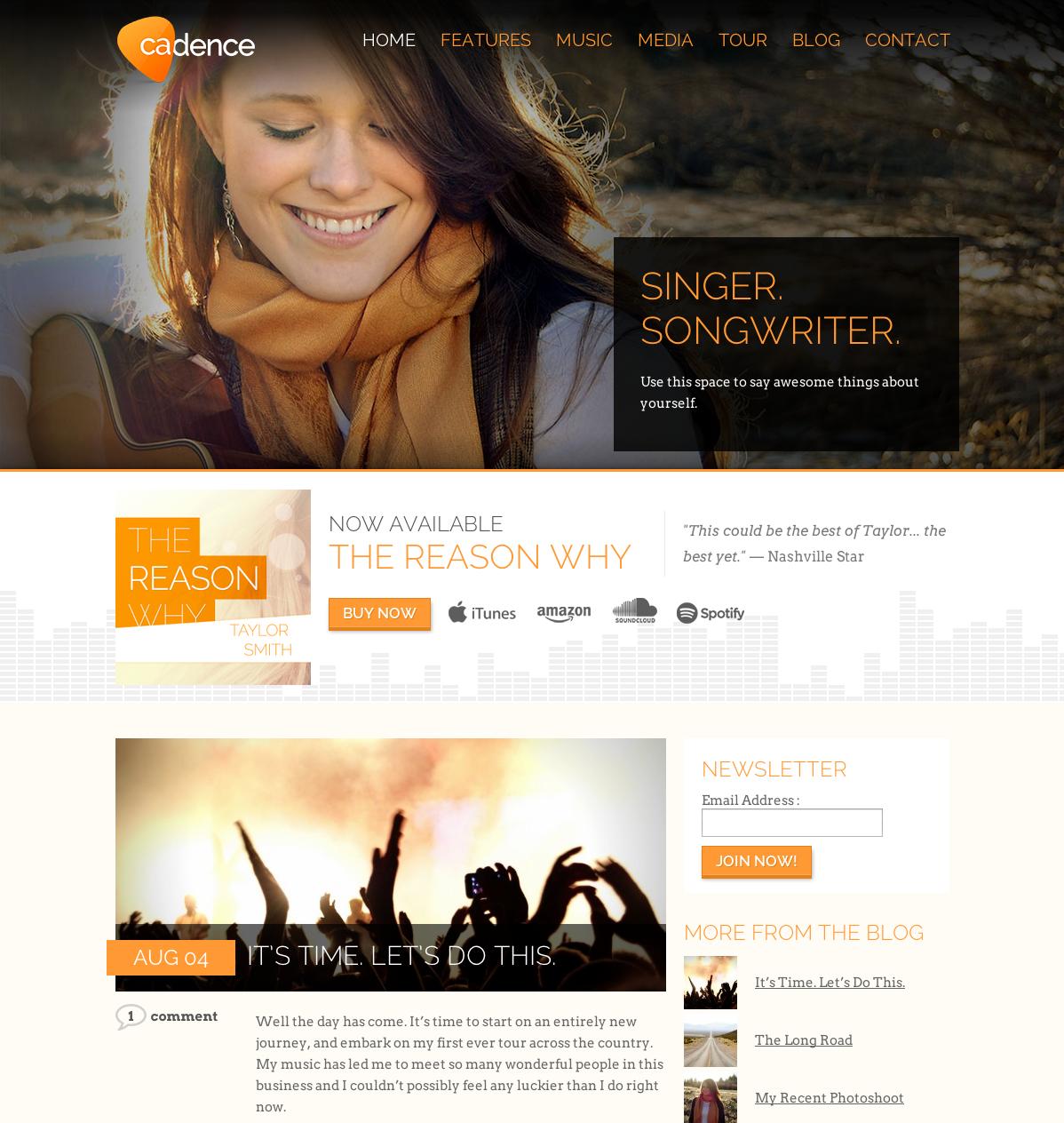 - Music|Premium wordpress themes