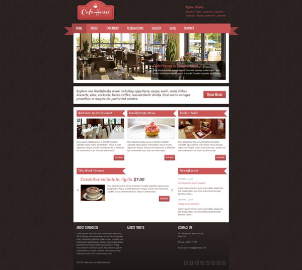 CafeHouse Restaurant WordPress Theme - Premium wordpress themes|Restaurant