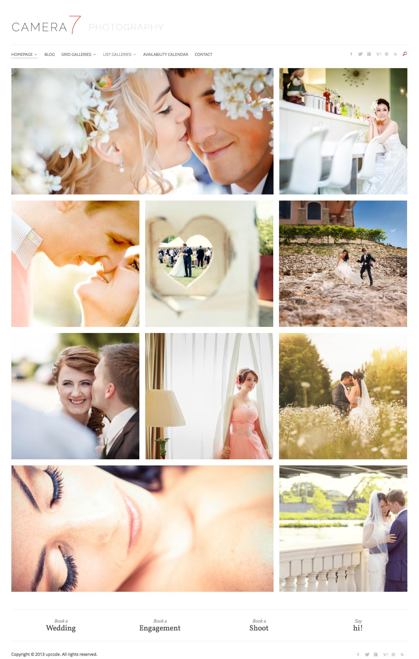 Camera 7 - Photography WordPress Theme - Photography