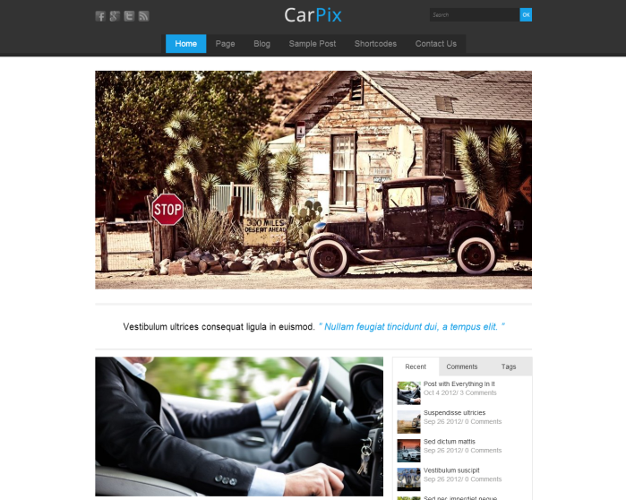 CarPix Wordpress Theme - Blog|Free wordpress themes