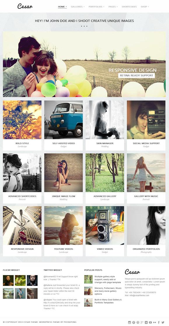 Cesar Responsive Portfolio Photography Theme - Gallery|Photography|Portfolio