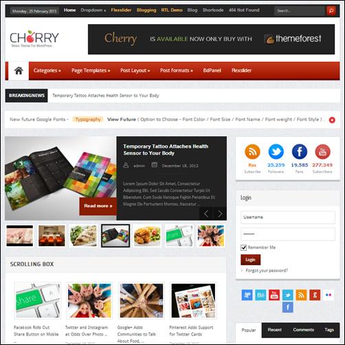 Cherry Responsive WordPress News