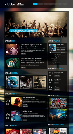 Clubber - Events & Music WordPress Theme - Music|Premium wordpress themes
