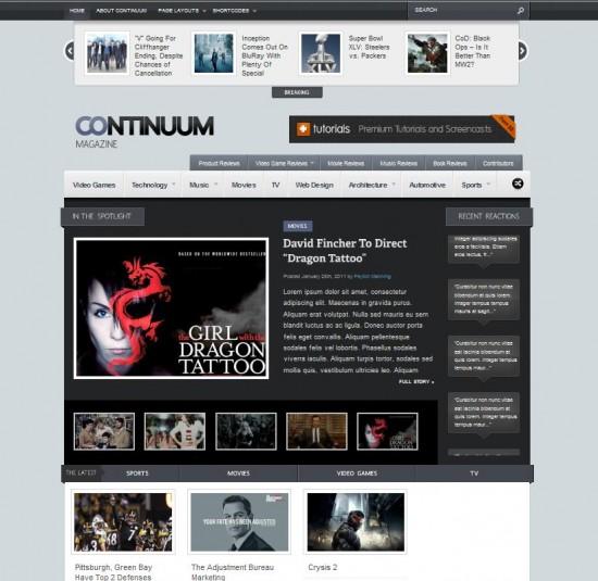 Continuum - Magazine Wordpress Theme - Gaming