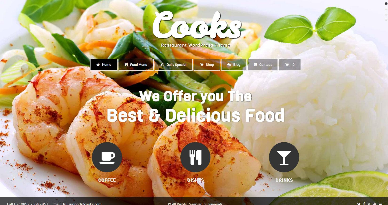 - Premium wordpress themes Restaurant