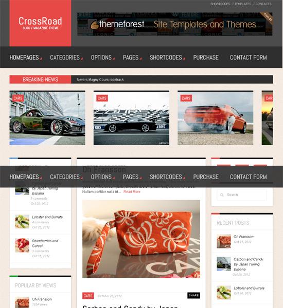 CrossRoad - Responsive WordPress Magazine / Blog - Magazine