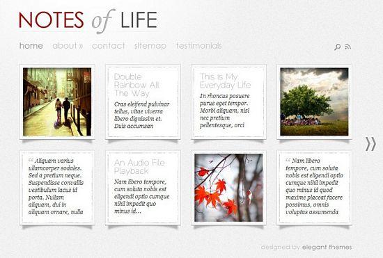 DailyNotes WordPress Theme - Photography