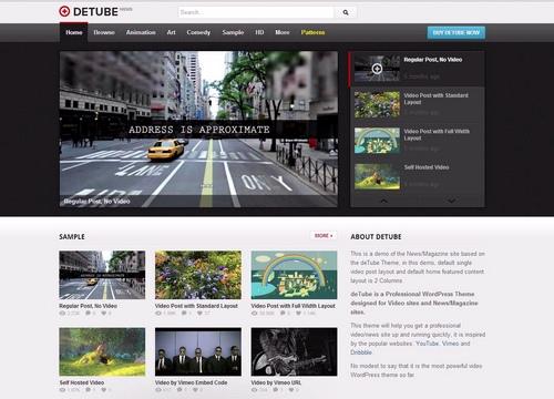 deTube - Professional Video WordPress Theme - Magazine