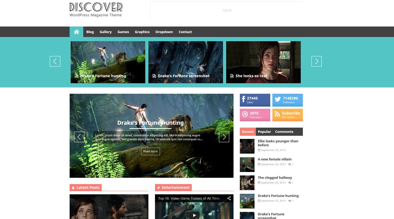 Discover - Flat WordPress Magazine Theme - Magazine