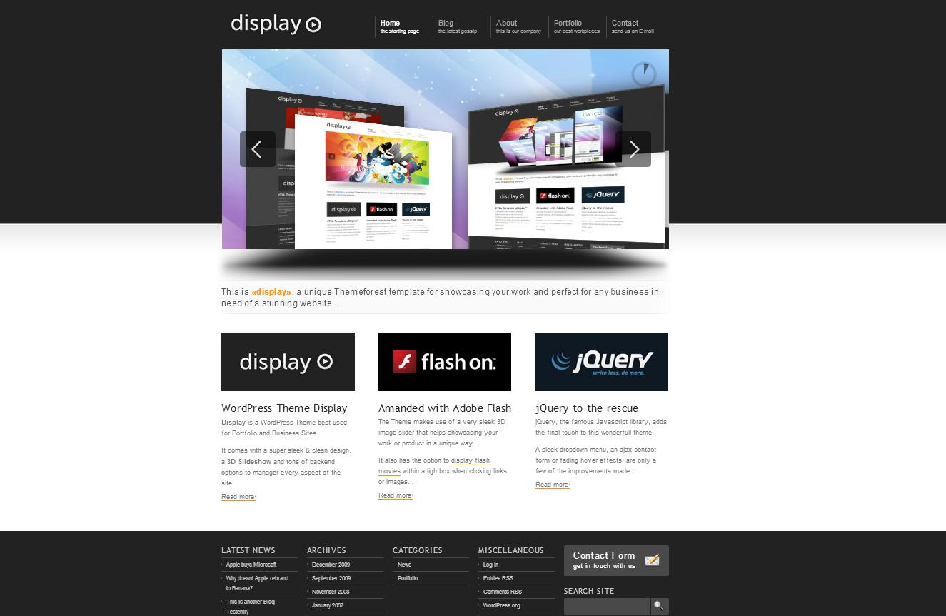 Display 3 in 1 - Business & Portfolio Wordpress - Business