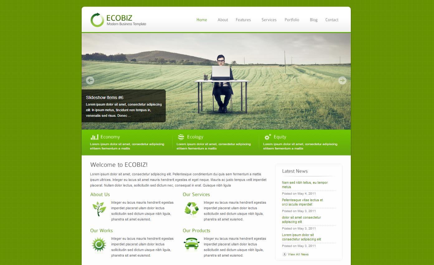 ECOBIZ - Modern Business WordPress Theme - Business