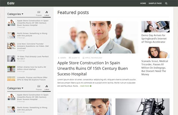 Editr - Blog/Magazine WordPress Theme - Magazine