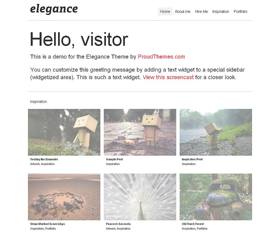 Elegance portfolio wordpress Theme - Portfolio|Tumblr-Style