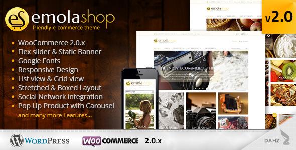 EmolaShop - A Friendly Wordpress eCommerce Theme - Ecommerce>WooCommerce