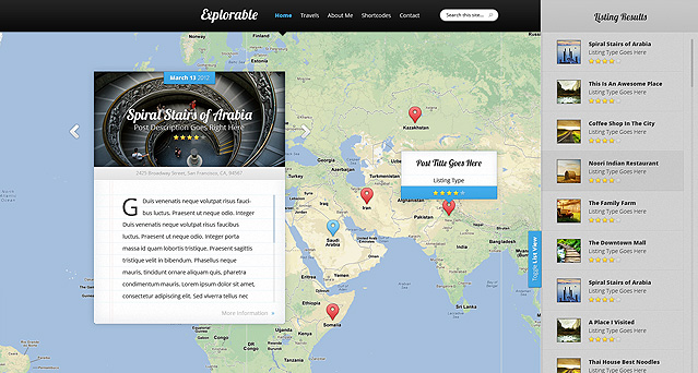 Explorable WordPress Theme - Travel