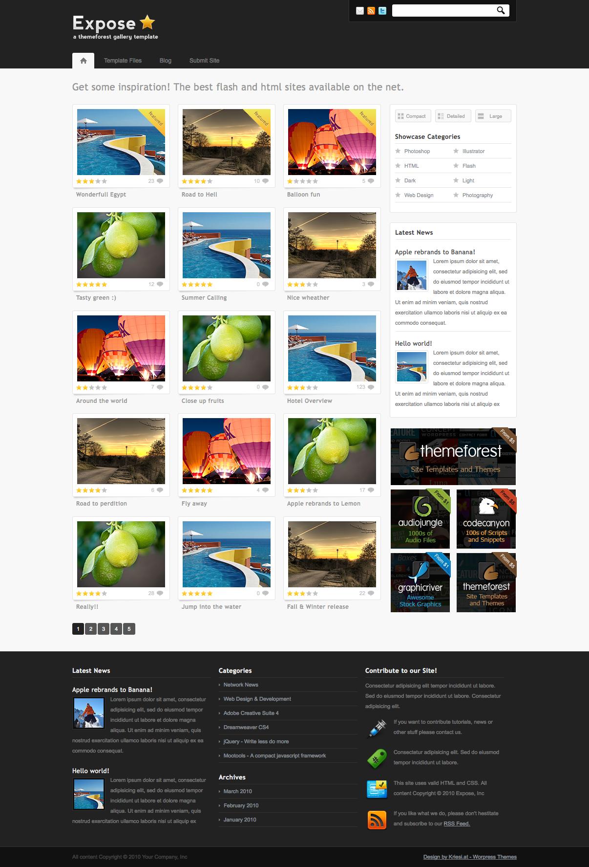 Expose Gallery Wordpress Theme - 3 in 1 - Gallery|Portfolio