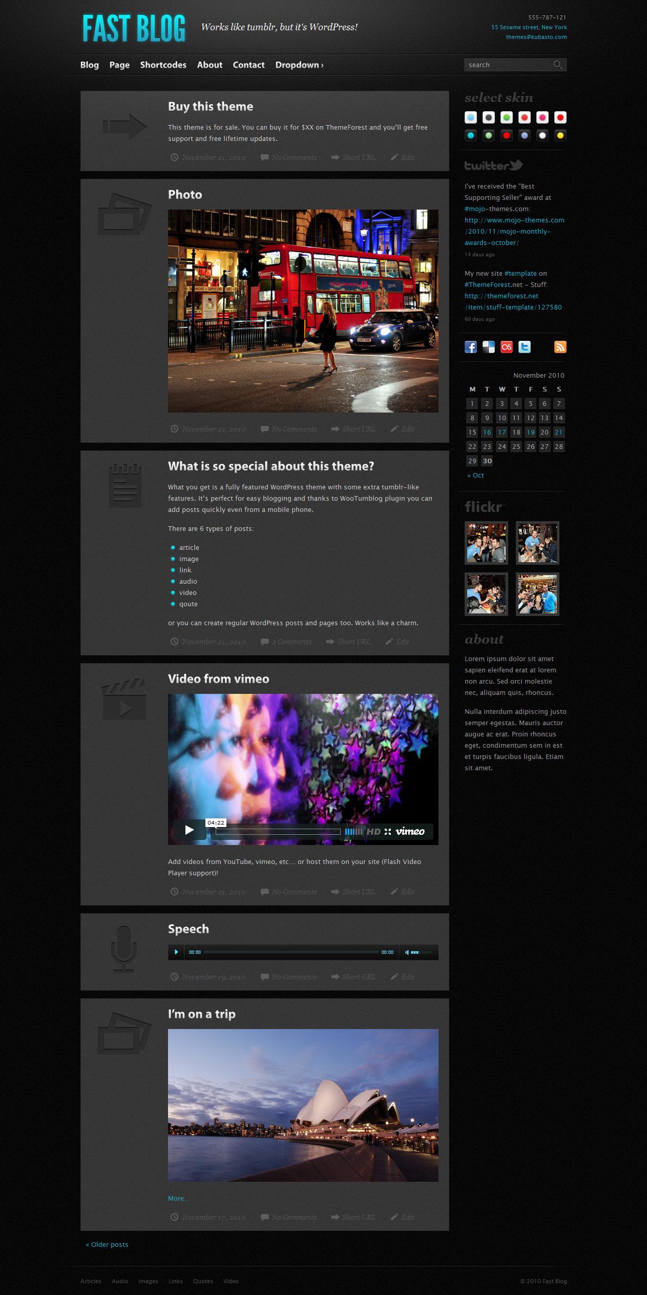 Fast Blog - Magazine|Tumblr-Style