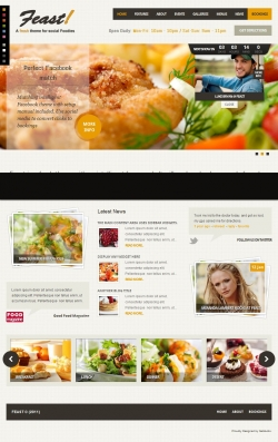 Feast - Facebook Fanpage & WordPress theme - Premium wordpress themes|Restaurant