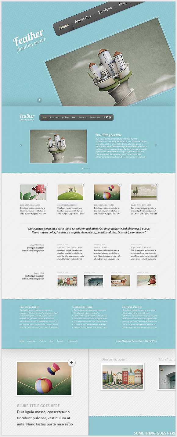 Feather WordPress Theme - Portfolio