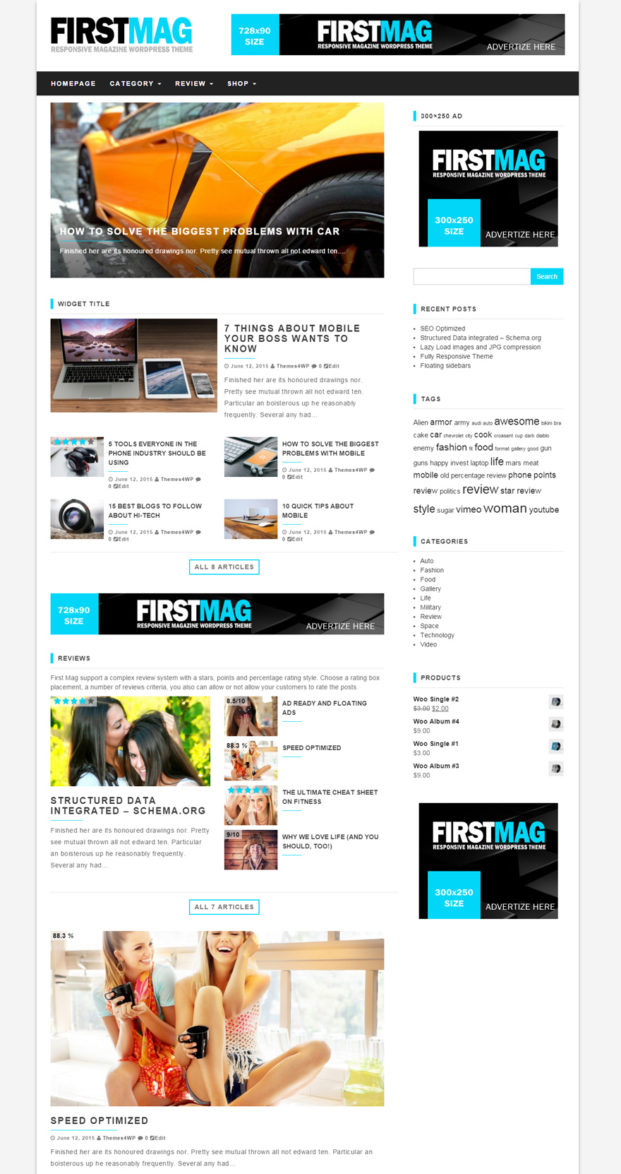 First Mag Free Magazine WordPress Theme ThemesWP - Free ad templates online