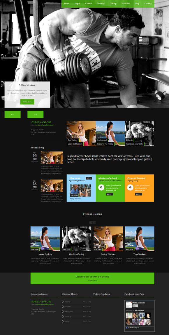 Fitness Club - Responsive Wordpress Theme - Fitness Premium wordpress themes