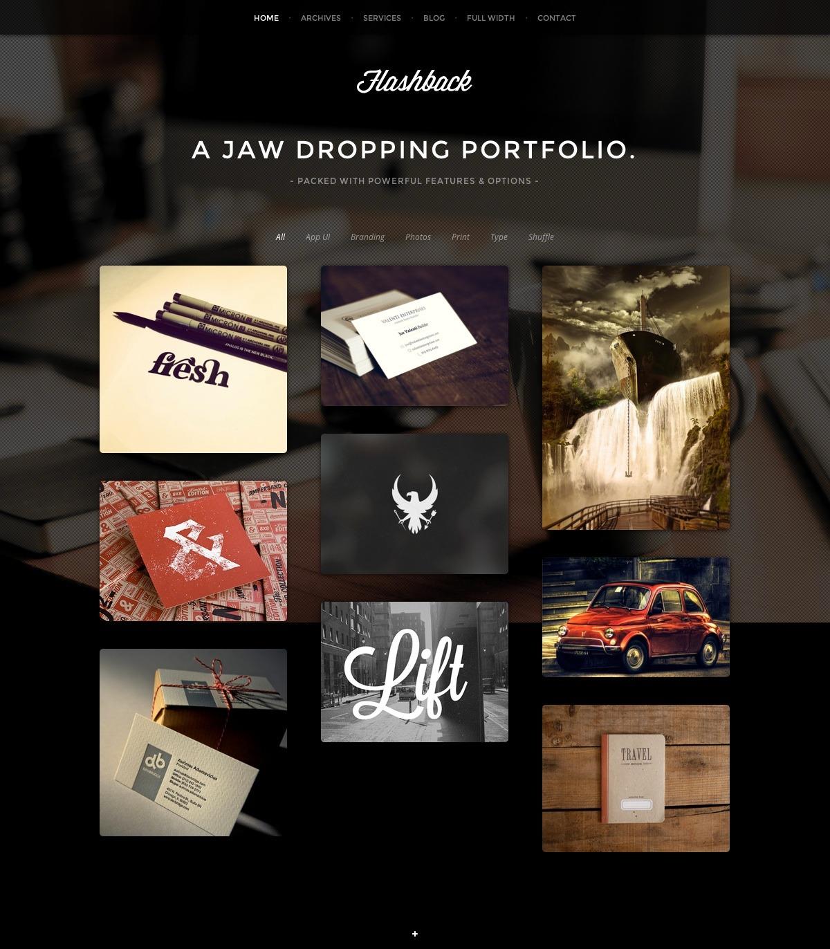 Flashback - A Jaw Dropping Portfolio WP Theme - Gallery|Photography|Portfolio