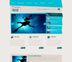 Flatee Blue WordPress Theme - Magazine