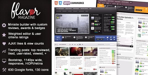 Flavor - Responsive/HD Magazine/Review AJAX Theme - Premium wordpress themes|Review|Ecommerce>WooCommerce